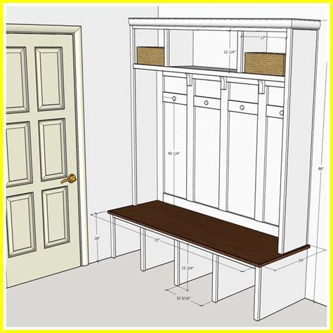Height Mudroom Bench Plans