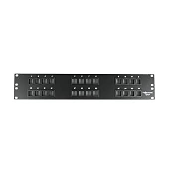 Hellermann Tyton P108-24-MOD Modular Patch Panel 24 Port, 2U, Steel, Black
