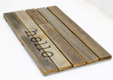 Hello Wooden Doormat