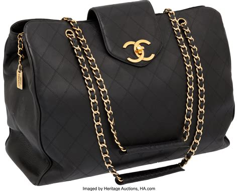 97c189b42f2ec9 Heritage Vintage: Chanel Beige Lambskin Leather Quilted Tote Lot.