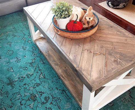 Herringbone Coffee Table Diy