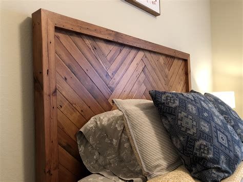 Herringbone Headboard King Plans