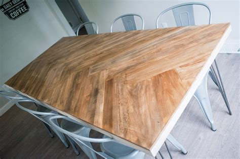 Herringbone Pattern Table Diy