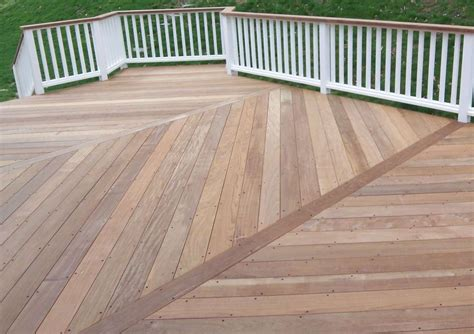Herringbone Wood Deck