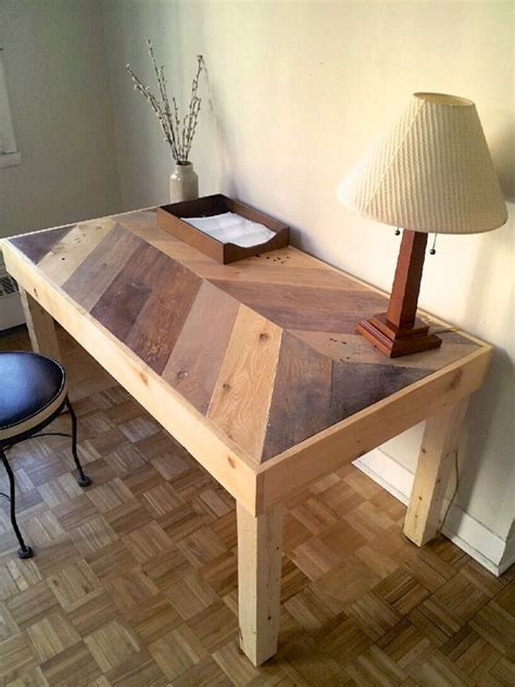 Herringbone Wood Desk