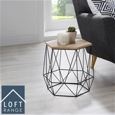 Hexagon Side Table Home Bargains