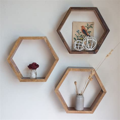 Hexagon Storage Shelves Diy Plans