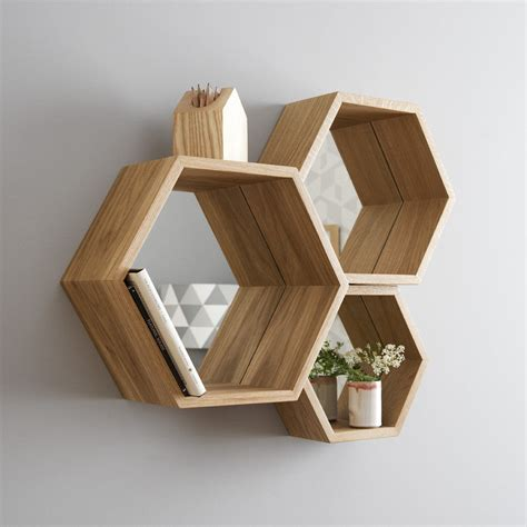 Hexagon Wood Shelf Diy Rustic Devices