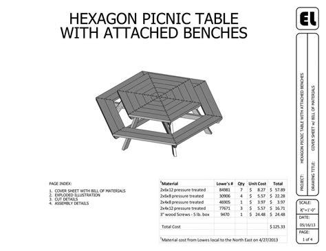 Hexagon-Picnic-Table-Building-Plan