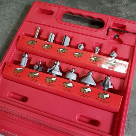 Hickory-Woodworking-Router-Bit-Set