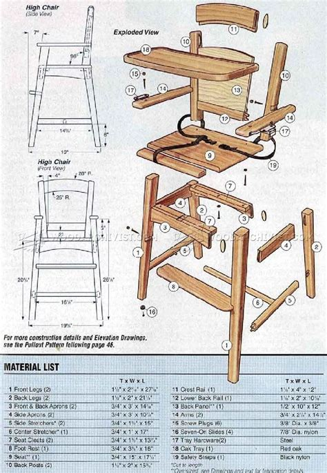 High Chair Plans For Toddlers