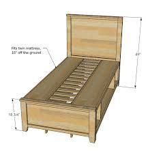 High Storage Twin Bed Plans