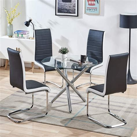High Top Dining Table Set 4 Chairs