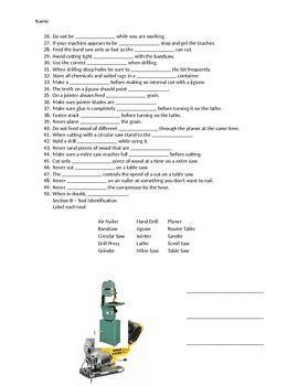 High-School-Woodworking-Safety-Test