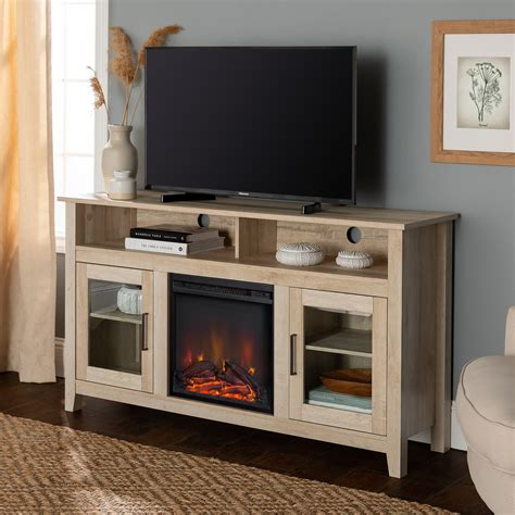 Highboy Fireplace Wood Tv Stand Console Site Youtube.Com