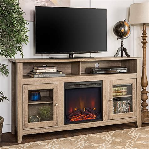 Highboy Tv Stand With Fireplace