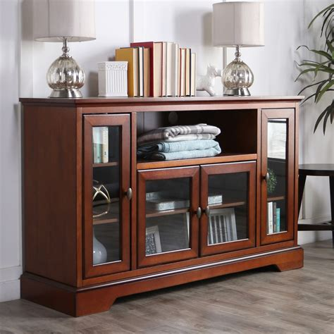 Highboy Wood Tv Stand