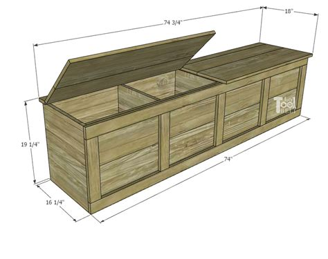 Hinged Storage Bench Plans