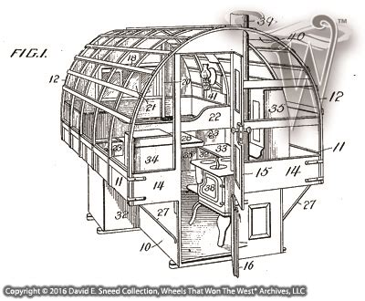 Historic Sheep Camp Wagon Plans Patent