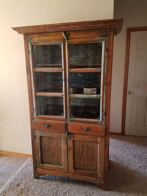 History Pie Cabinet Antique Refinishing