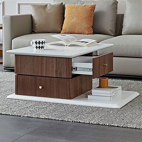 Hoch 2 Drawer Coffee Table With Storage