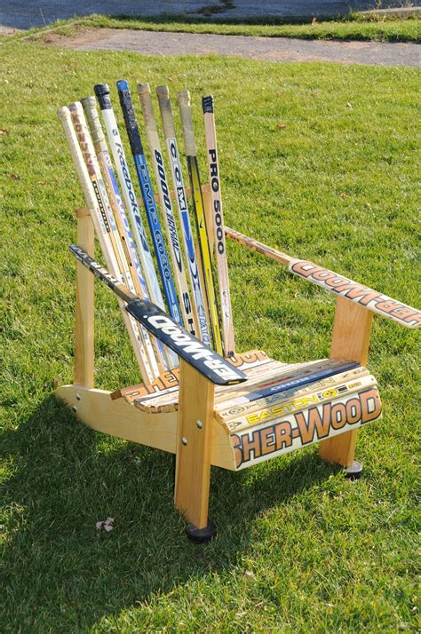 Hockey Stick Chairs Plans