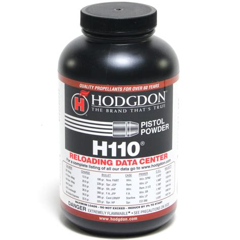 Hodgdon H110 Powder Hodgdon Powder Co  Inc