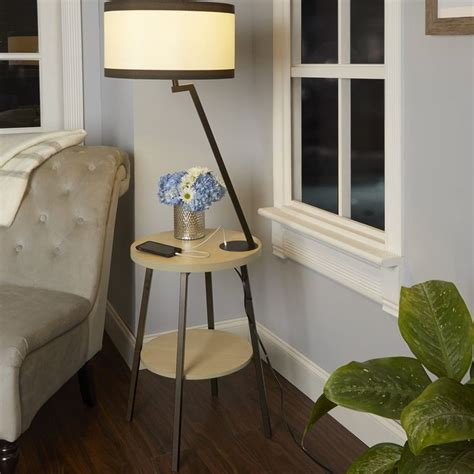 Hofman Side Table 57.5 Floor Lamp With Usb Port