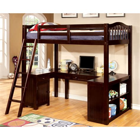 Hokku Designs Colony Twin Loft Bed With Workstation