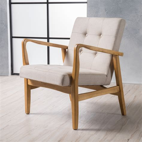 Hollande Mid Century Modern Accent Chair