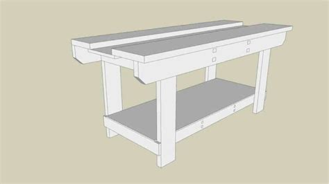 Holtzapffel-Workbench-Free-Plans-Sketchup