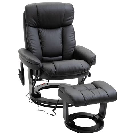 Homcom Faux Leather Massage Recliner Chair