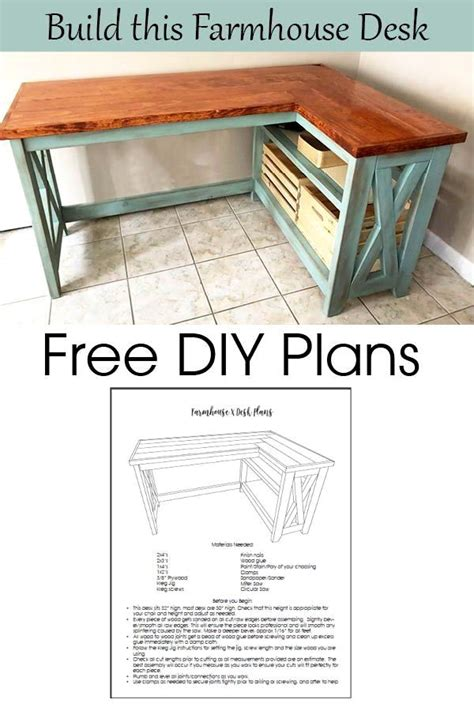Home Depot Diy Desk Plans