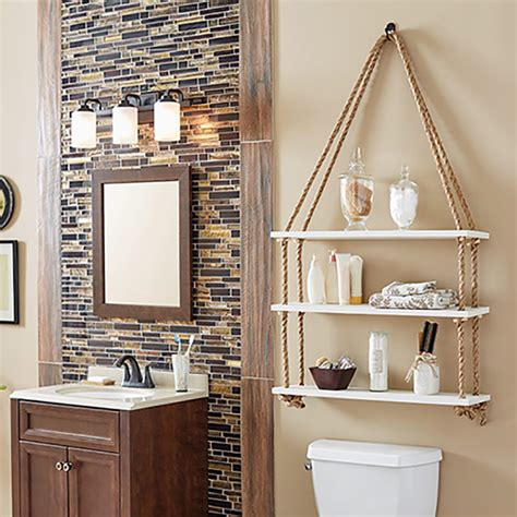 Home Depot Diy Rope Shelves Bathroom