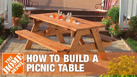 Home Depot Picnic Table DIY