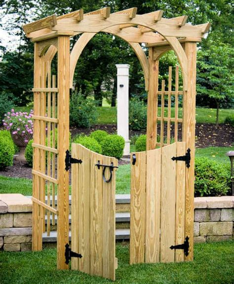 Home Depot Wood Arbor With Gate