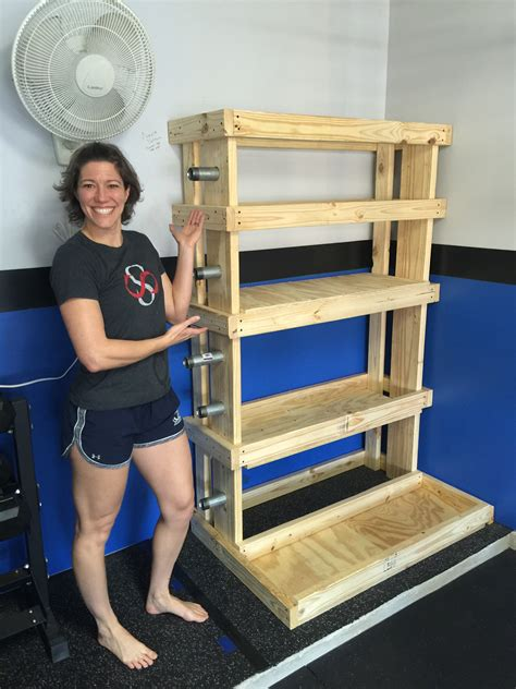 Home Garage Gym Weight Rack Diy