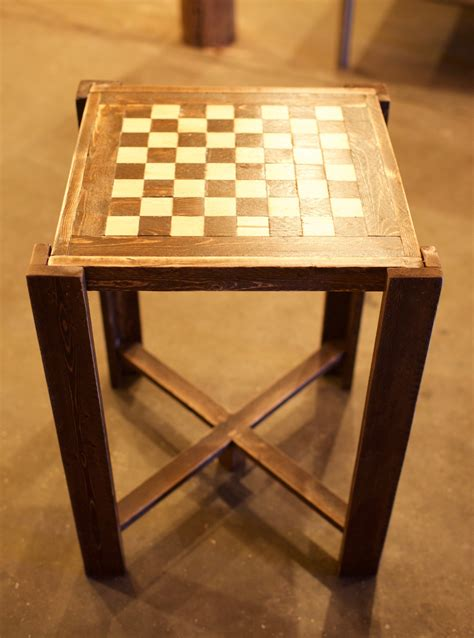 Homemade Chess Table Plans