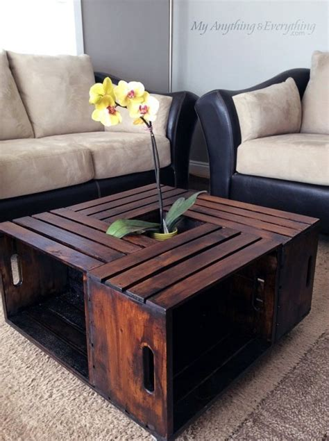 Homemade Coffee Table Diy With Crates