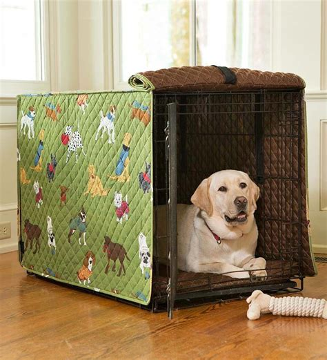 Homemade Dog Crate Cover