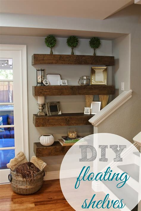 Homemade Free Floating Bookshelves With Ends
