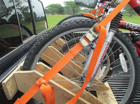 Homemade Pickup Bed Bike Rack