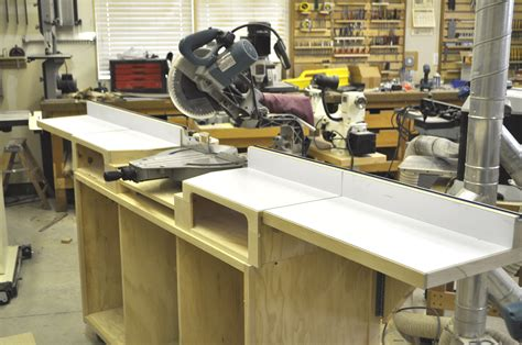 Homemade Sliding Compound Miter Saw Table
