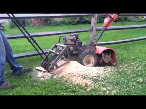 Homemade Stump Grinder Plans