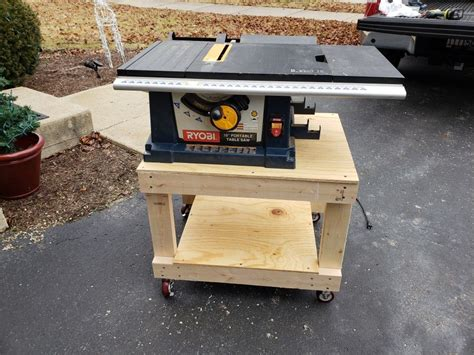 Homemade Table Saw Stand With Wheels