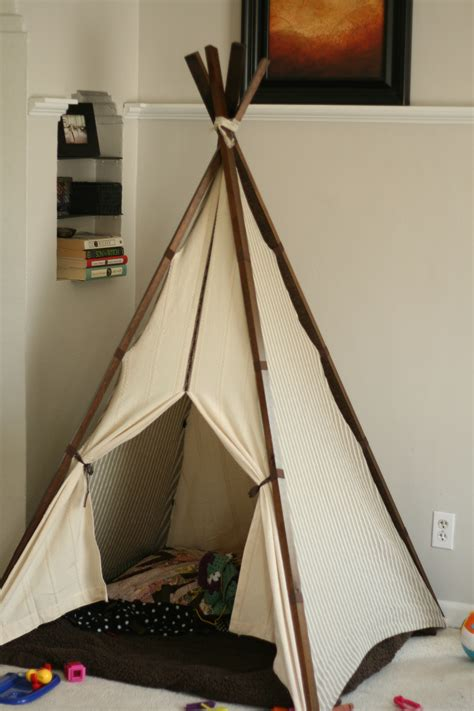 Homemade Teepee Plans Canvas