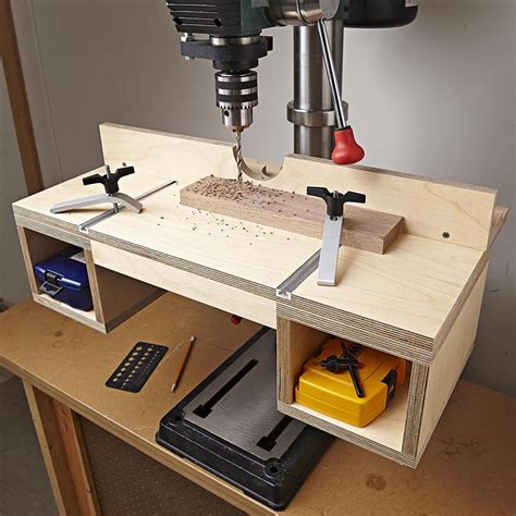 Homemade Tilting Drill Press Table Free Plans
