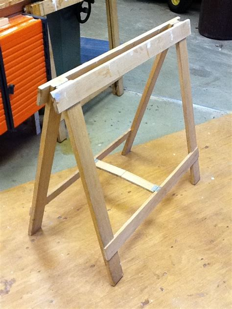 Homemade Wooden Sawhorse Plans Folding