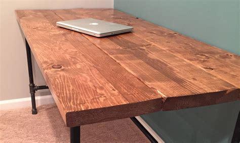 Homemade-Computer-Desk-Diy-Rustic-Wood