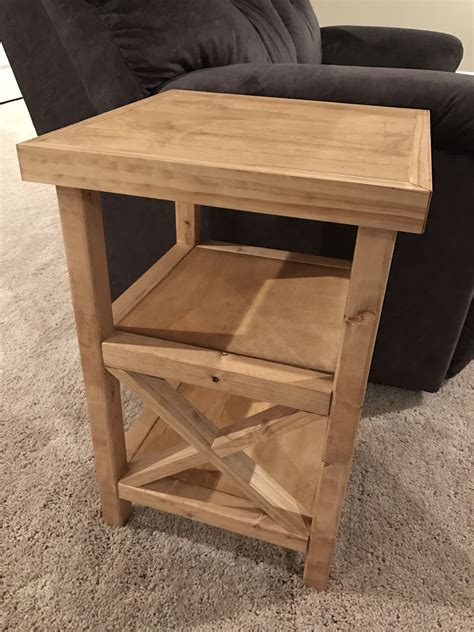 Homemade-End-Tables-Plans